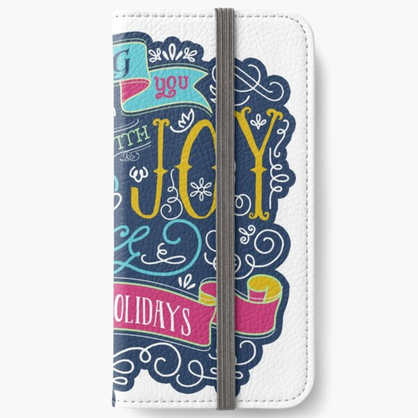 Christmas Typography Love Joy Peace Happy Holidays Banner iPhone Wallet