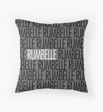 Rumbelle white name Throw Pillow