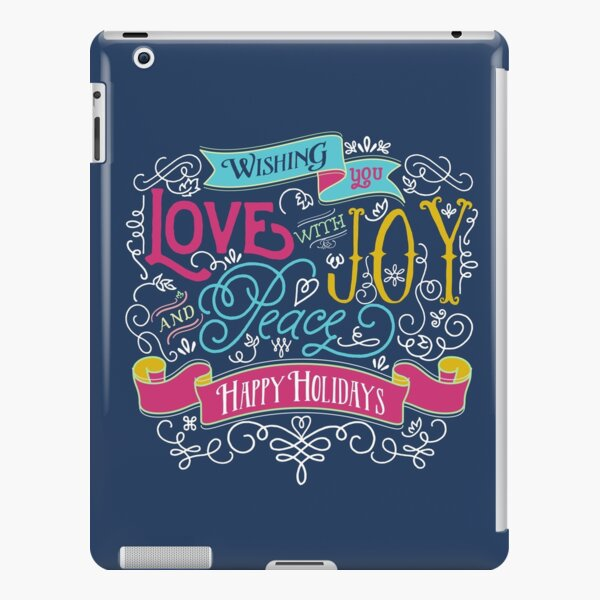 Love Joy Peace Christmas Typography Happy Holidays Banner iPad Snap Case