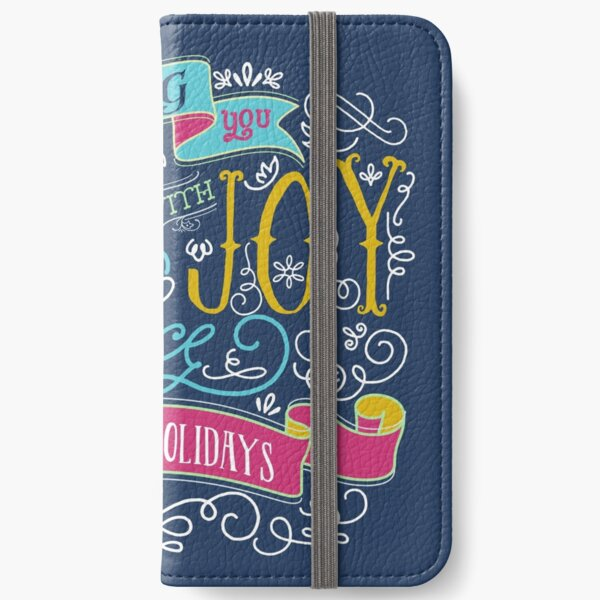 Love Joy Peace Christmas Typography Happy Holidays Banner iPhone Wallet