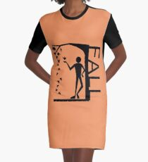 I Love Fall  Graphic T-Shirt Dress