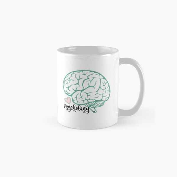 Psychology brain sticker Classic Mug