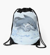 It's His Time, Not Yours Drawstring Bag