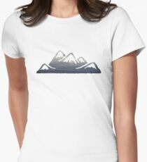 wild cascadia - mountains Women's Fitted T-Shirt