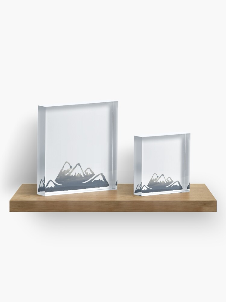 Alternate view of wild cascadia - mountains Acrylic Block