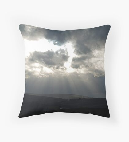 Storm Clouds on the moor Throw Pillow