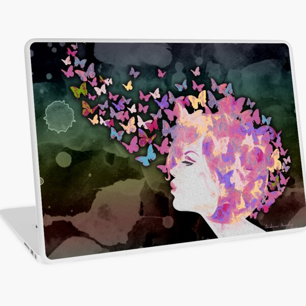 Butterfly thoughts Laptop Skin