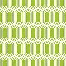 Elongated Hexagon Geometric Pattern (Fill Green on White) by KristyKate