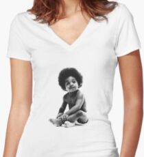 Ready to Die Notorious BIG replica baby print Women's Fitted V-Neck T-Shirt