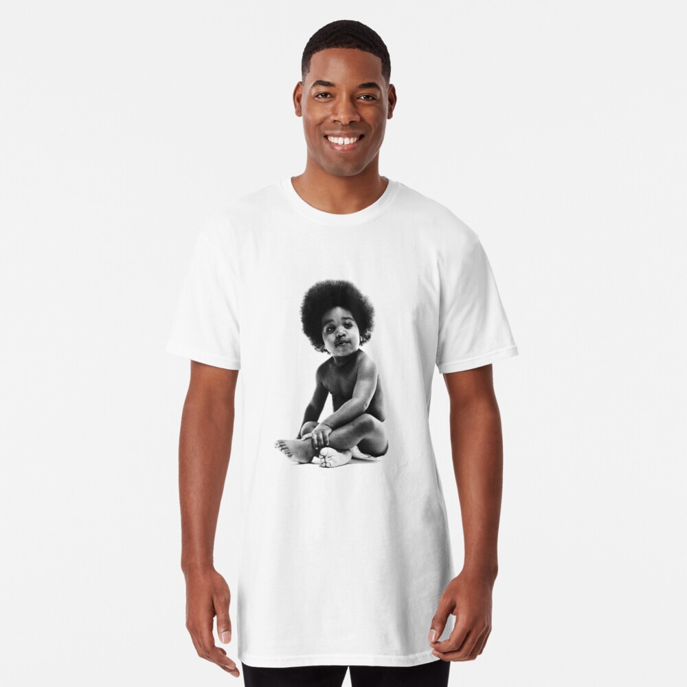 Listo para morir Notorious BIG replica baby print Camiseta larga