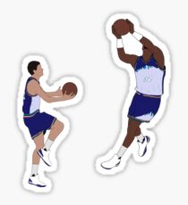 John Stockton Alley Oop To Karl Malone Sticker