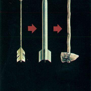 """""""Evolution?"""" / """"Evolyutsiya?"""" - Sowjetisches Anti-Atomkriegs-Propagandaplakat von dru1138"""