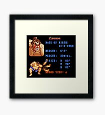 Sumo Stats Framed Print
