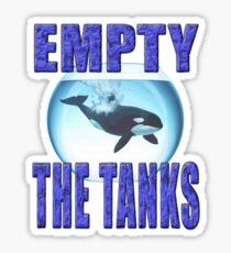 EMPTY THE TANKS Sticker
