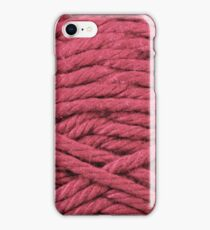 Fuschia Yarn Texture Close Up iPhone Case/Skin