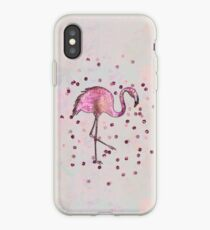 Glamorous Flamingo pink and rose gold sparkle iPhone Case