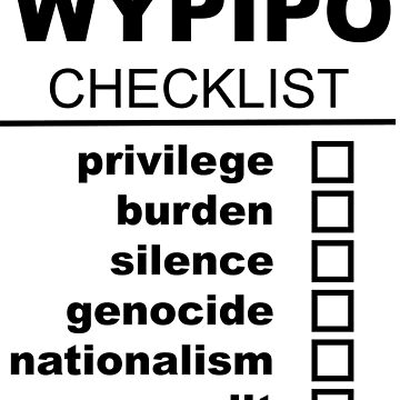 White People Checklist by agnumasalis