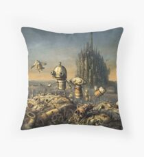 Machinarium Throw Pillow
