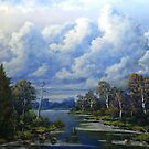 RIVER OIL PAINTING NO 2 by JOHN COCORIS