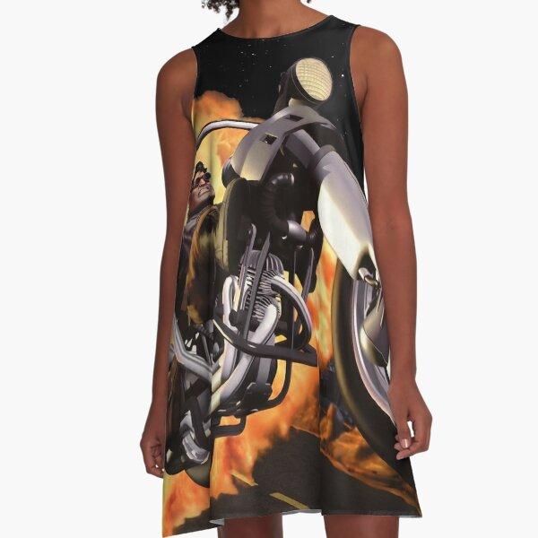 Full Throttle A-Line Dress