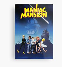Maniac Mansion Metal Print