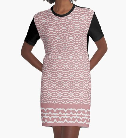 Mushroom And Soft Lace Graphic T-Shirt Dress