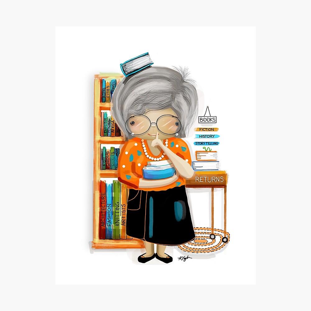 Der kleine Bibliothekar Fotodruck