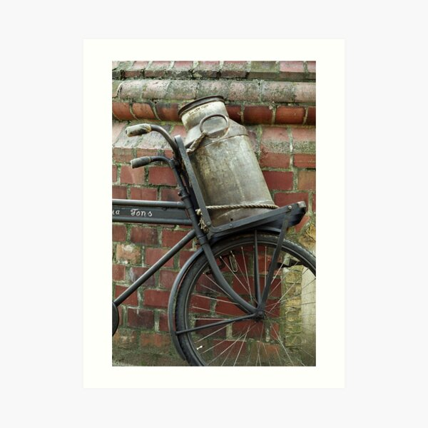At the dairy factory Art Print