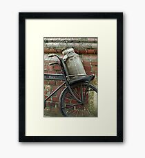 At the dairy factory Framed Print
