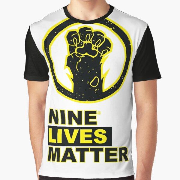 Nine Lives Matter Graphic T-Shirt