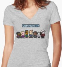 Community - 8Bit Women's Fitted V-Neck T-Shirt
