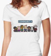 Community - 8Bit Women's Fitted V-Neck T-Shirt