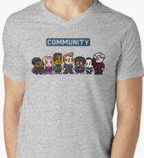 Community - 8Bit Men's V-Neck T-Shirt