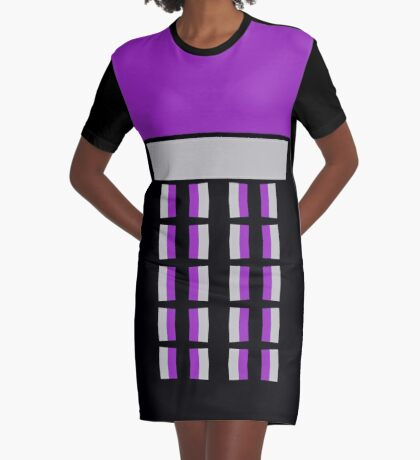 Divine Modern Lines Graphic T-Shirt Dress
