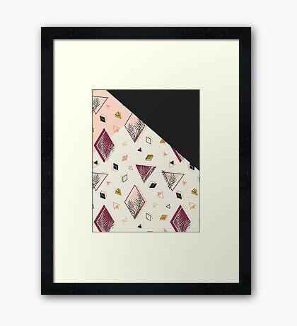 Rhombus&Palms #redbubble #decor #buyart Framed Print