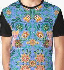 Sphynx Pattern Graphic T-Shirt