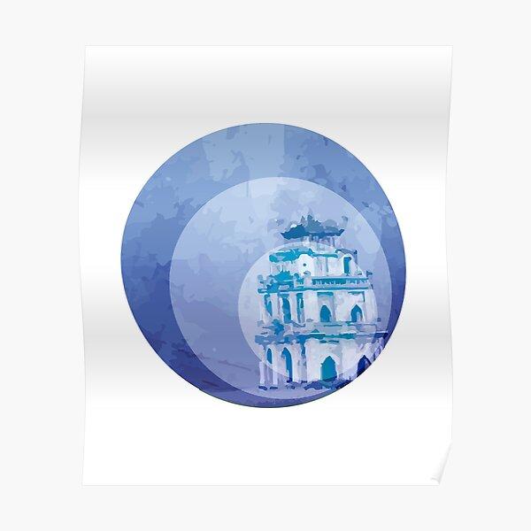 Vietnam Hoan Kiem Lake Hanoi Capital Poster