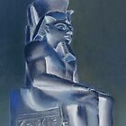 Pharaoh in Blue by artlilly