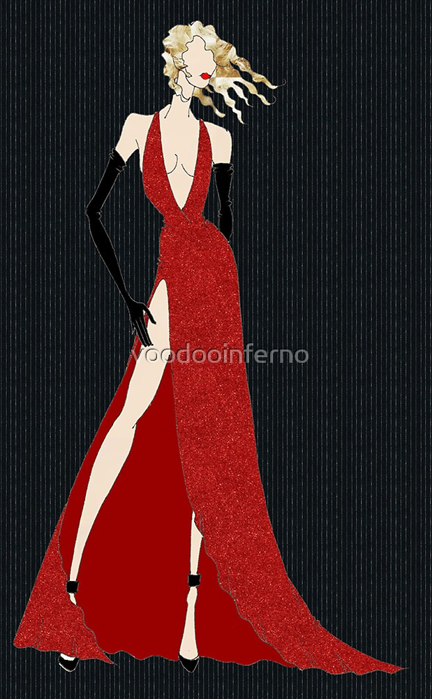 Diva In A Red Dress by voodooinferno