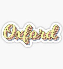 Oxford Retro Sticker