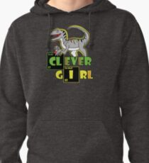 Clever Girl Dinosaur Pullover Hoodie