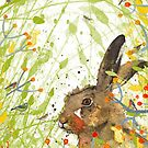 Birdsong - Hare  by michcampbellart