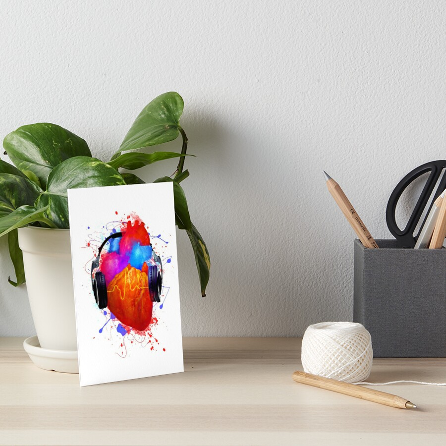 No Music - No Life Art Board Print