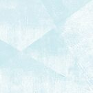 Light Blue and White Geometric Triangles Lino-Textured Print by itsjensworld