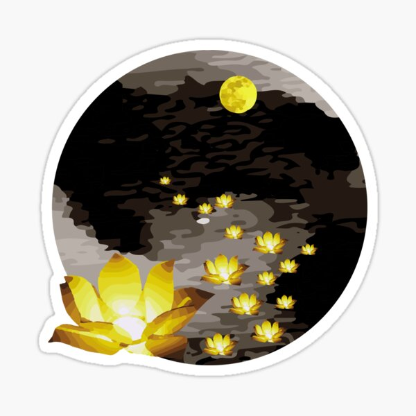 Vietnam Flower Lanterns Hoai River Hoi An ancient town Sticker