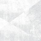 White and Gray Geometric Lino-Textured Print   by itsjensworld