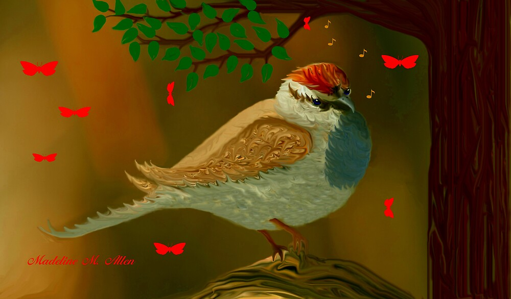 CHIRPING SPARROW by Madeline M  Allen