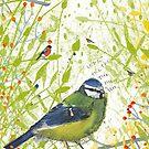 Birdsong - Blue Tit by michcampbellart