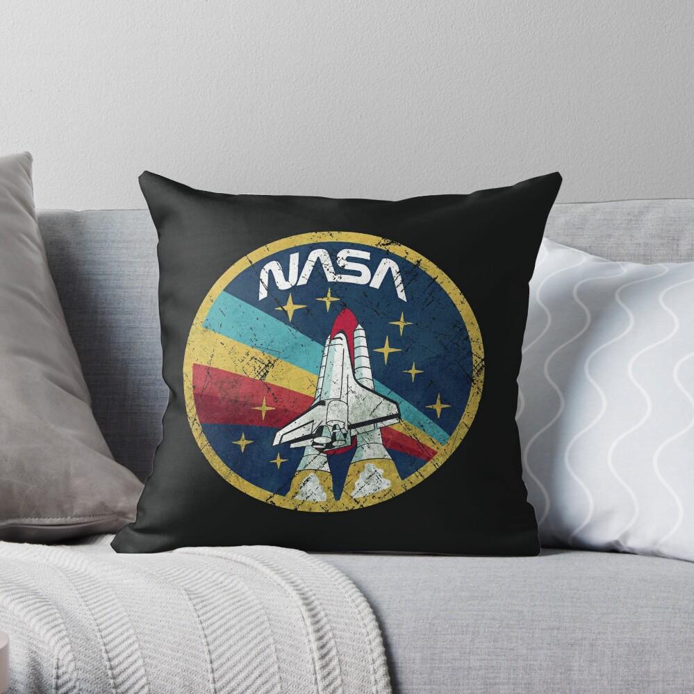 Nasa Vintage Colors V01 Throw Pillow