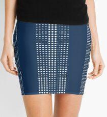 Minifalda Azul marino punteado Shibori azul Indigo Dabu Print Dots